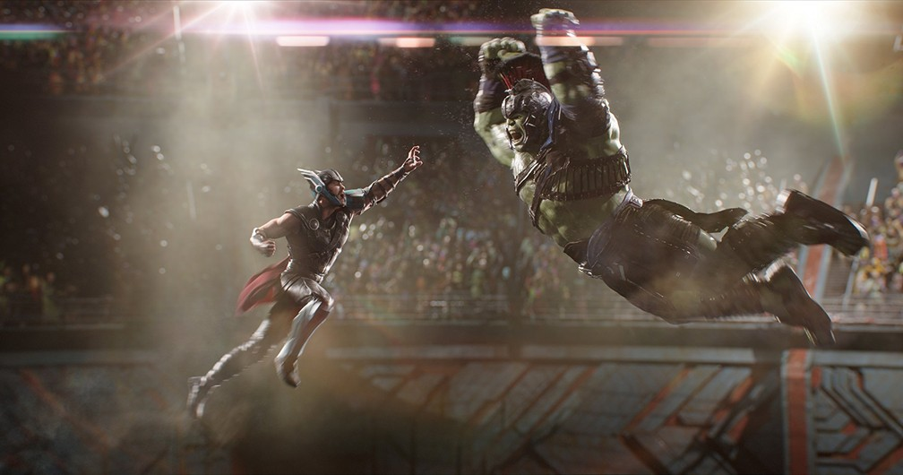 Chris Hemsworth e Mark Ruffalo são amigos e rivais em 'Thor: Ragnarok' (Foto: Divulgação/Marvel)