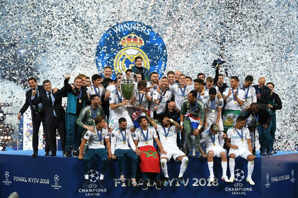 Real Madrid foi tricampeão consecutivo da Liga dos Campeões — Foto: Getty Images
