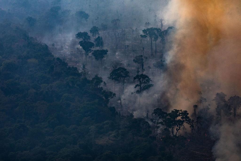 Foco de incêndio na Amazônia, em Rondônia (Foto: Victor Moriyama/Getty Images)