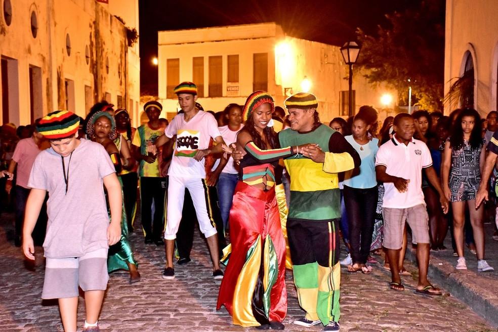Público pode apreciar o Roteiro Reggae e conhecer sobre o estilo musical de São Luís (Foto: Maurício Alexandre)