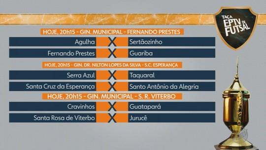 Nove jogos movimentam rodada desta segunda na Taça EPTV Ribeirão Preto de Futsal