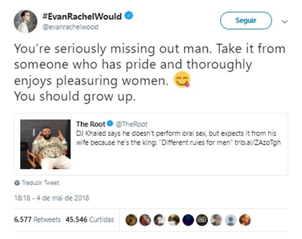 Evan Rachel Wood  (Foto: Reprodução/Twitter)