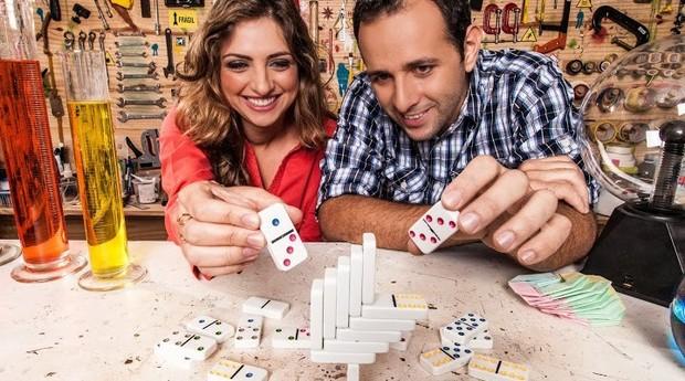 Iberê Thenório e Mariana Fulfaro, do canal Manual do Mundo (Foto: Divulgação)