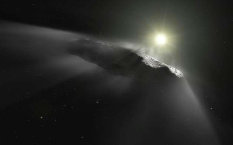 Outro projeto artístico sobre Oumuamua (Foto: European Southern Observatory)