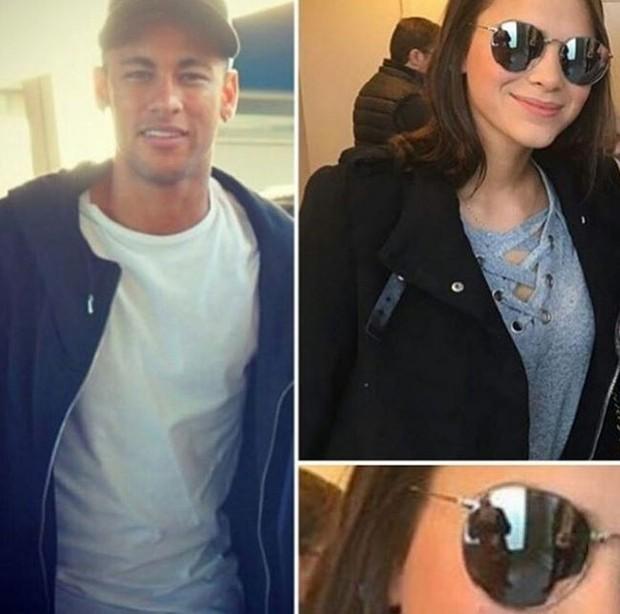Fãs veêm reflexo de Neymar no óculos de Bruna Marquezine em Barcelona (Foto: Instagram / Reprodução)