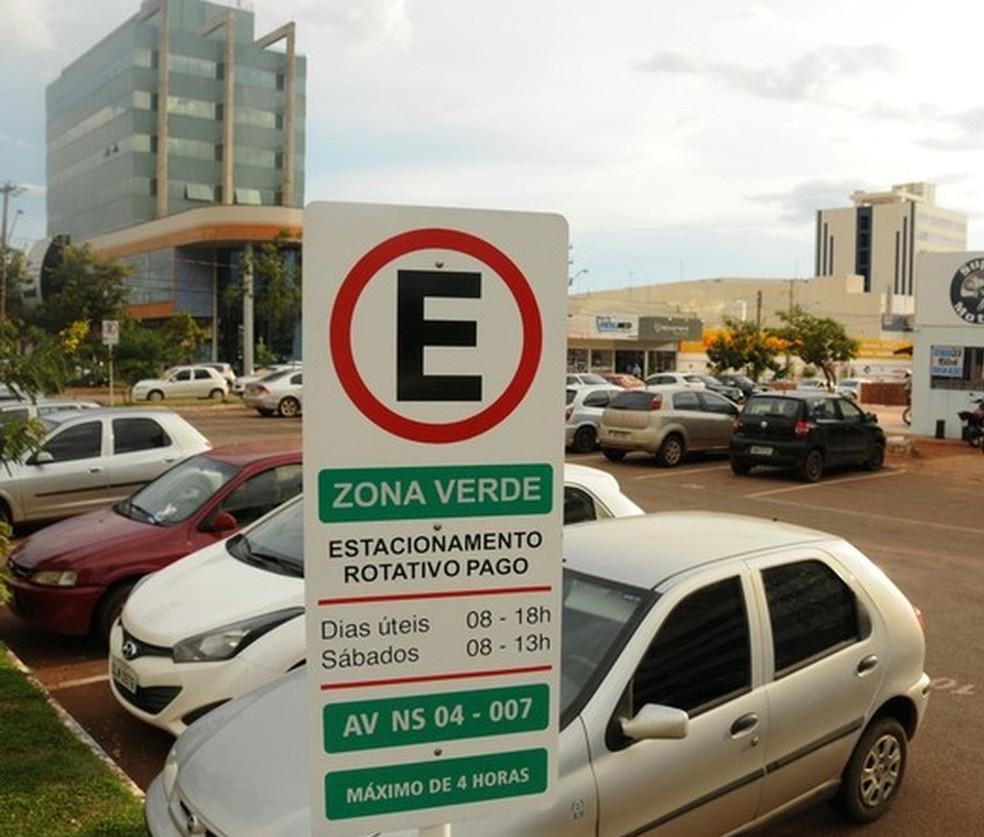Estacionamento rotativo de Palmas tem gerado polêmica desde 2014 — Foto: Valério Zelaya/Prefeitura de Palmas/Divulgação
