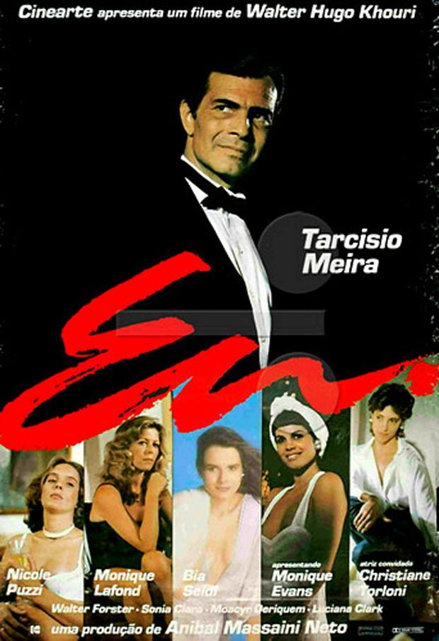 O cartaz de Eu, filme que Nicole Puzzi fez com Tarcísio Meira (Foto: Reprodução )