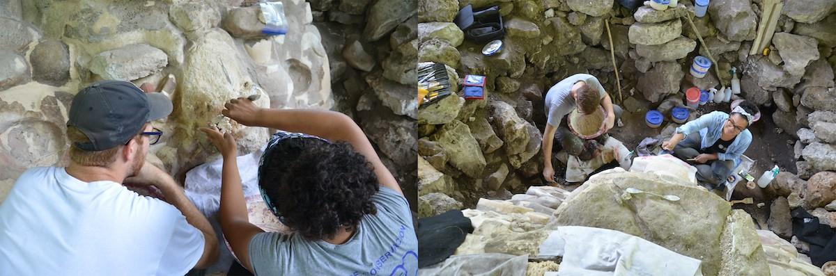 Los expertos esperan conocer más sobre las técnicas de conservación de sitios arqueológicos recuperando la obra (Foto: INAH)