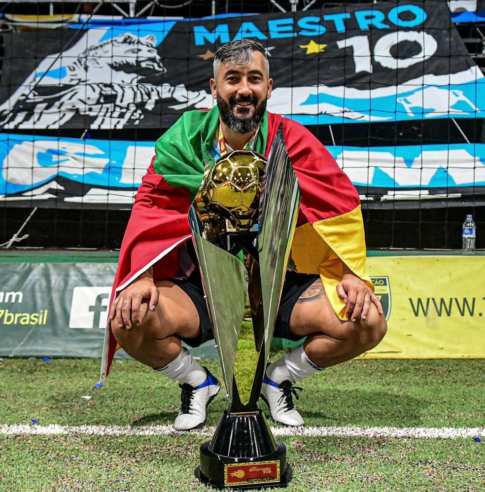 Douglas estreia com vitória e título pelo Grêmio Futebol 7 — Foto: Divulgação/Grêmio Futebol 7