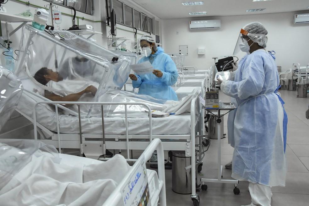 Hospital de Campanha de Manaus — Foto:  Ingrid Anne / HCM
