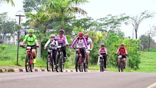 Esporte e fé fazem 100 ciclistas se aventurarem por estradas rurais e de asfalto do Oeste Paulista; vídeo