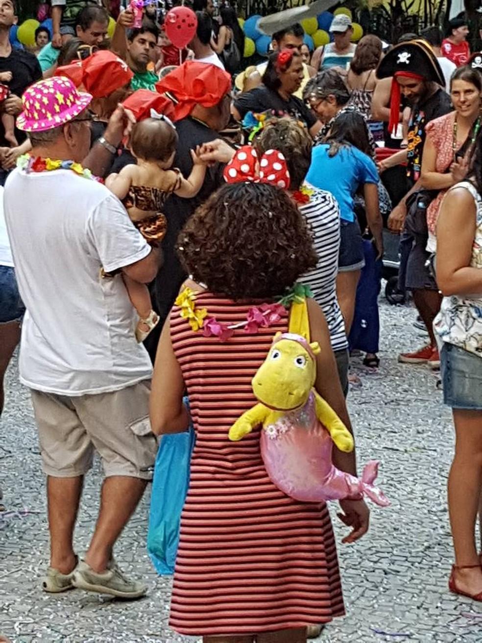 Bloco da Mamadeira, em Botafogo — Foto: Eduardo Pierre/G1