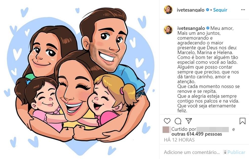 Ivete Sangalo comemora aniversário com live, declaração do marido e surpresa de amigos e equipe — Foto: Reprodução/Redes Sociais