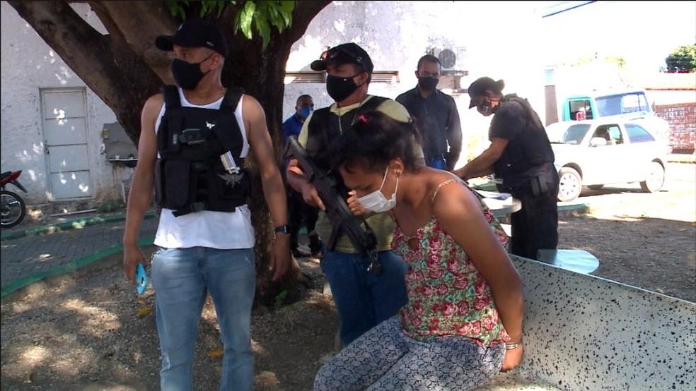 Wiliane de Sousa Teófilo, de 21 anos, foi presa na manhã desta quinta-feira (22), em Teresina — Foto: Reprodução/TV Clube