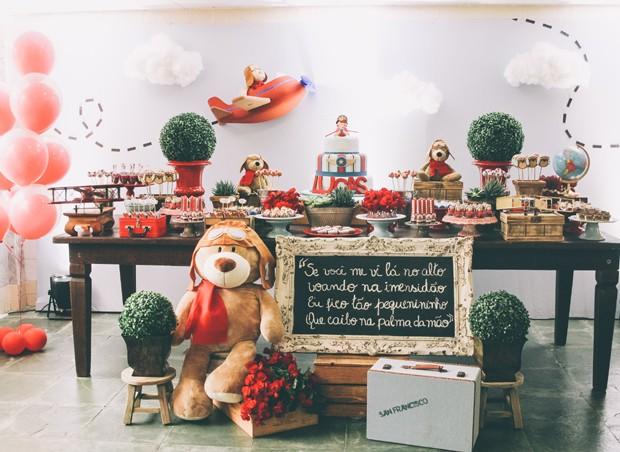 f1ed9c58b Tema para festa de aniversário: Urso aviador - Crescer | Temas