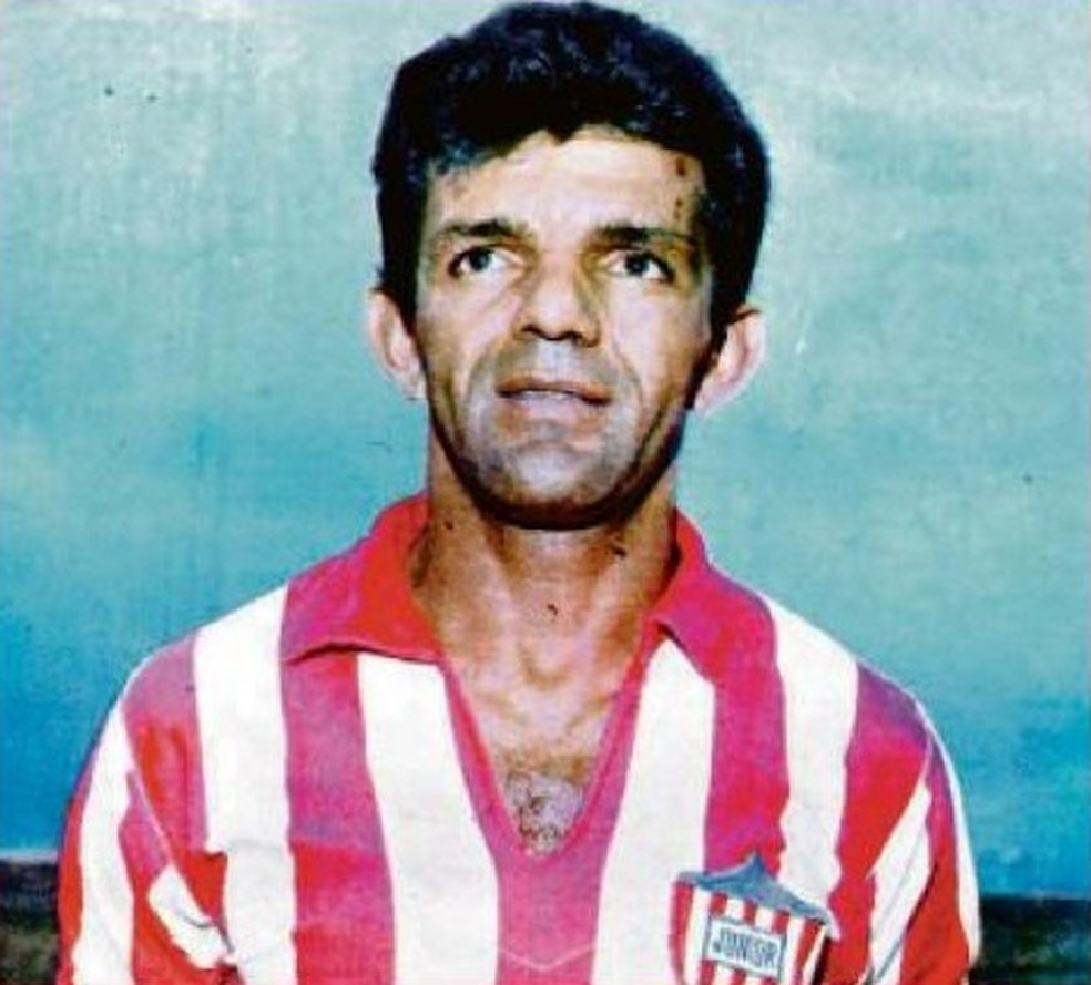 Dida com a camisa do Junior Barranquilla — Foto: Dider Ariza Ospino/Arquivo pessoal