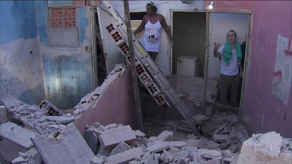 Demolição na Cracolândia, em SP, deixa feridos (Foto: Reprodução/TV Globo)