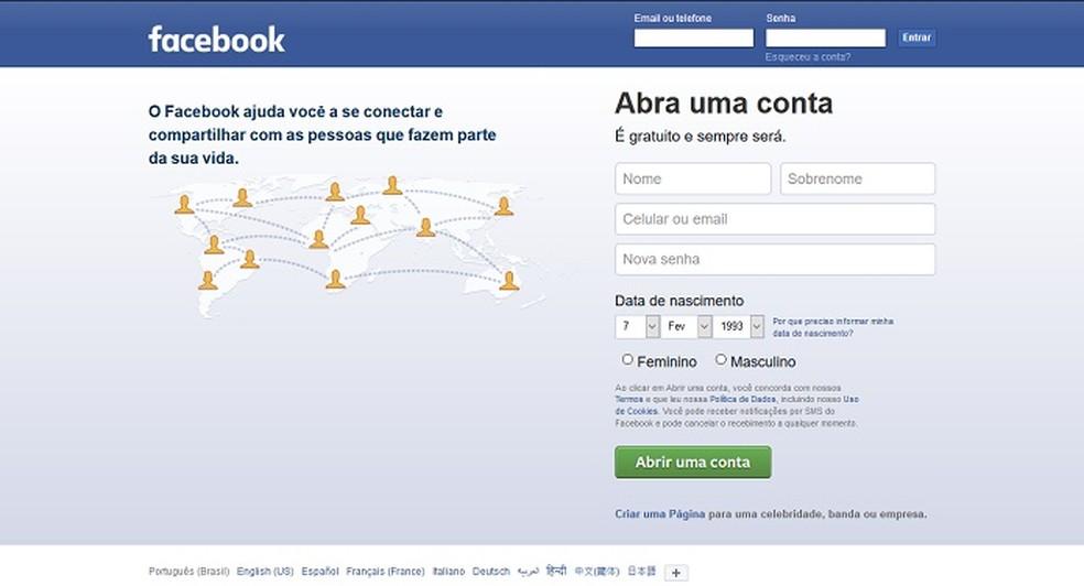 O Facebook é a rede social mais popular do mundo (Foto: Reprodução/Bárbara Fernandes)