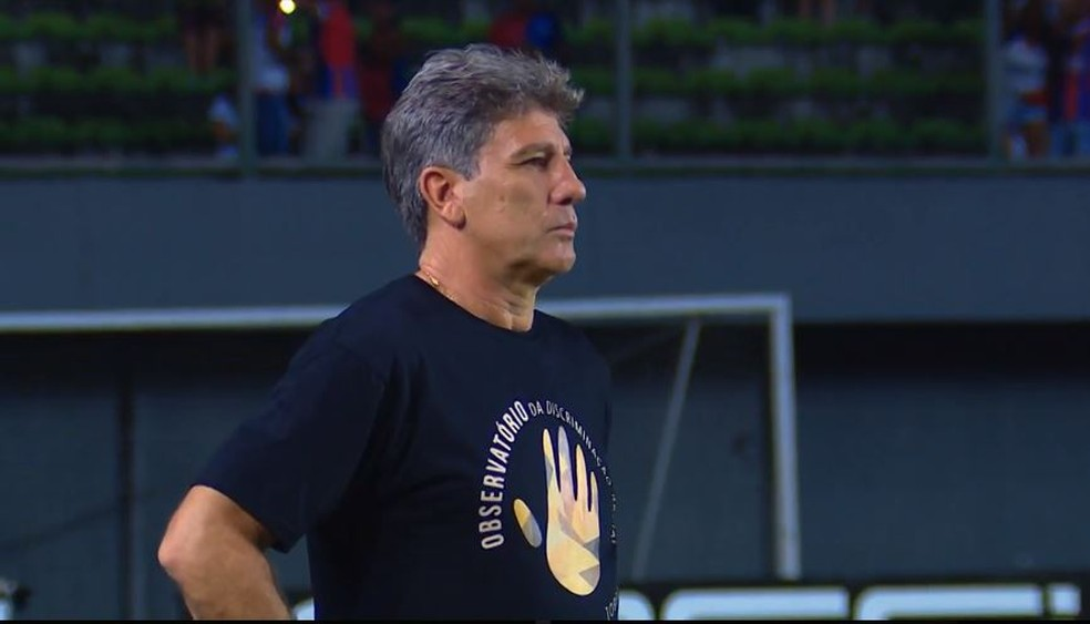 Renato Gaúcho precisa reverter quadro negativo do Grêmio — Foto: Reprodução