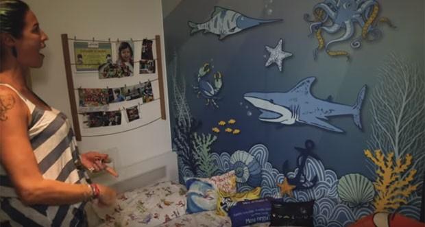 Luana Piovani mostra o quarto do filho Dom (Foto: Reprodução)
