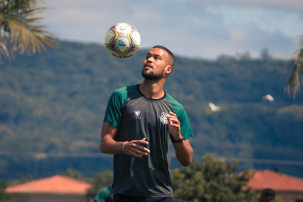 Gabriel Barbosa esteve no Figueirense em 2020 — Foto: Patrick Floriani/FFC