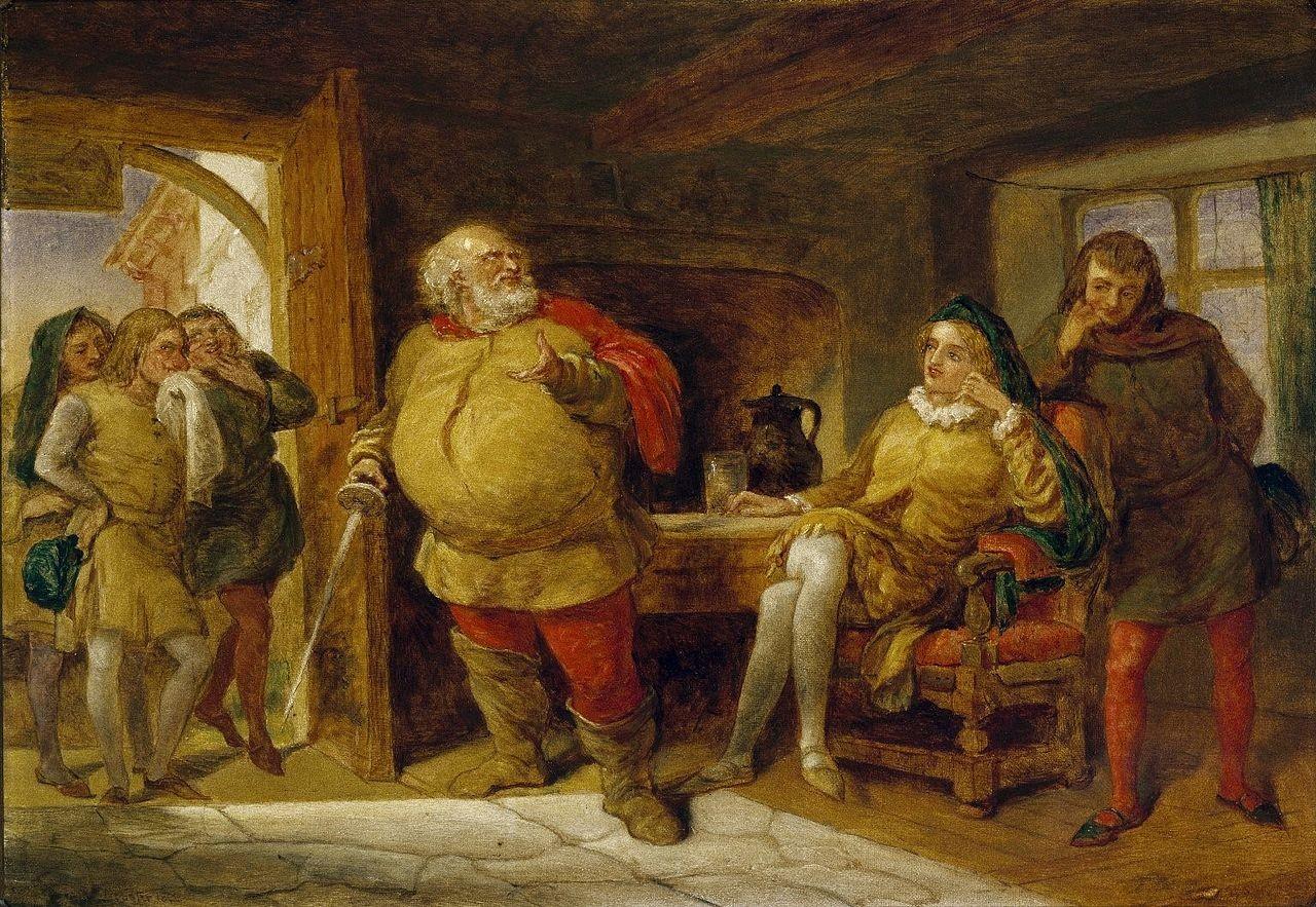 Falstaff, ao centro, e Hall, sentado