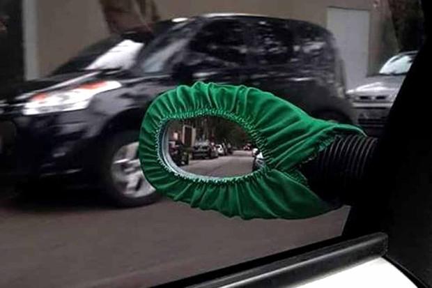 As capas para retrovisores externos não podem atrapalhar a visão do motorista (Foto: Divulgação)