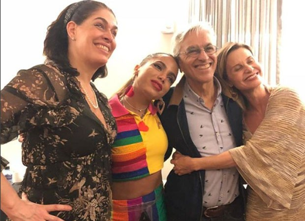 Paula Lavigne, Anitta, Caetano e Paula Burlamaqui (Foto: Reprodução)