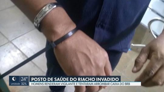 Criminosos invadem posto de saúde no Riacho Fundo para arrombar caixa eletrônico