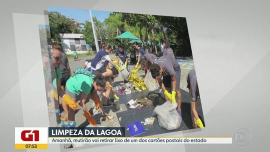 G1 no BDRJ: cariocas realizam mutirão de limpeza na Lagoa Rodrigo de Freitas