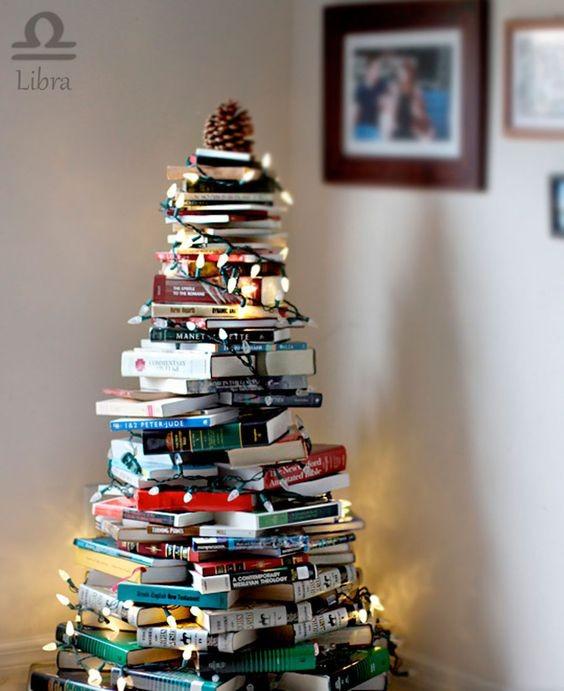 Árvore de Natal diferente (Foto: Pinterest)