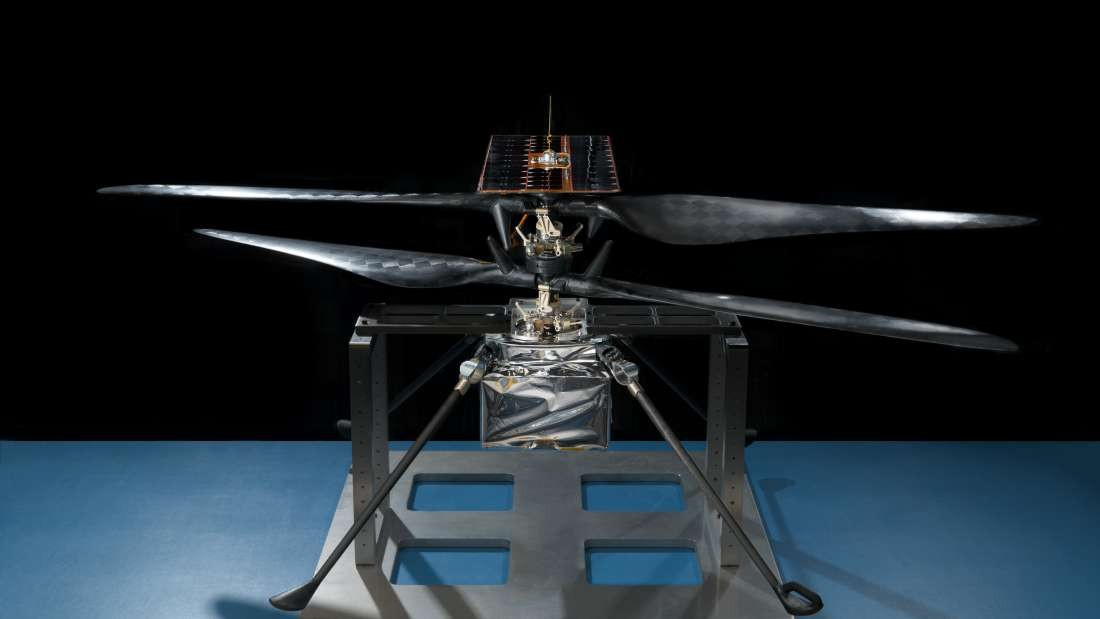 Modelo da NASA para desenvolvimento de helicóptero que deve chegar a Marte em 2021. (Foto: NASA/JPL-Caltech)