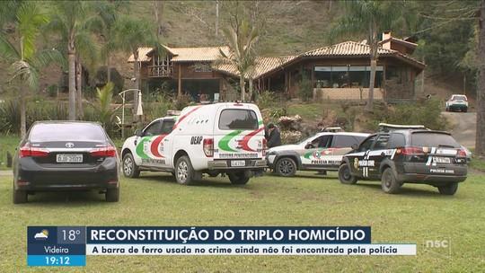 Polícia Civil faz reconstituição do triplo homicídio de Alfredo Wagner