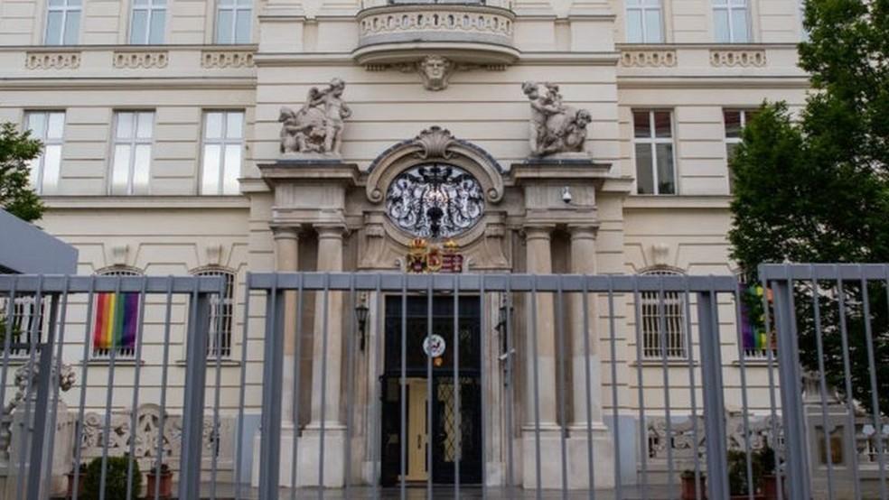 Embaixada americana em Viena — Foto: Getty Images/BBC