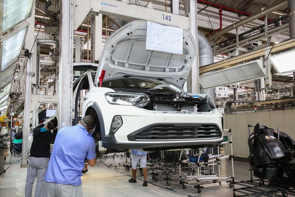 Produção de veículos cresceu 43,9% em julho e foi o principal destaque do setor, segundo o IBGE. — Foto: Divulgação/Volkswagen
