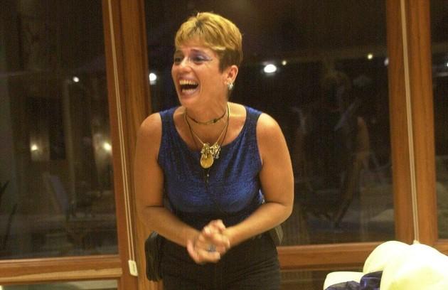 Cida, do 'BBB' 2, foi eliminada no seu quinto paredão, que foi o penúltimo do programa. Ela perdeu para Rodrigo, que saiu campeão (Foto: Renato Rocha Miranda/ TV Globo)