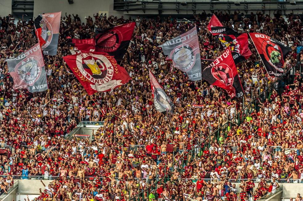 Torcida Flamengo x Corinthians — Foto: Alexandre Vidal / Flamengo