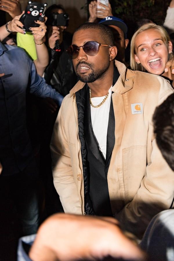Kanye West na Semana de Moda de Nova York (Foto: Reprodução)