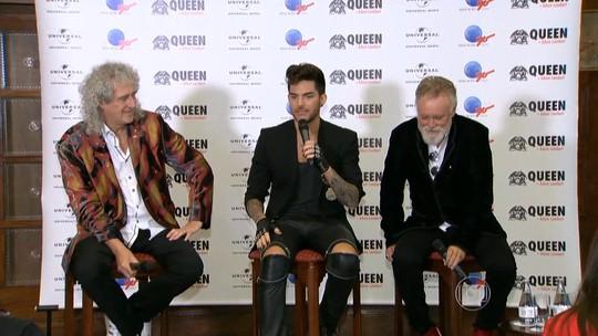 No Rio, Queen diz que Adam Lambert e Freddie Mercury têm 'semelhanças'