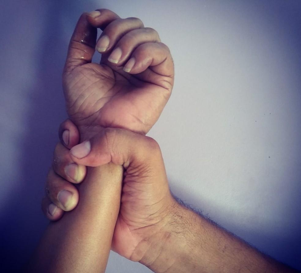 Violência doméstica  — Foto: Alcinete Gadelha/G1