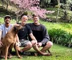 Marcello Novaes com os filhos, Diogo e Pedro | Arquivo pessoal