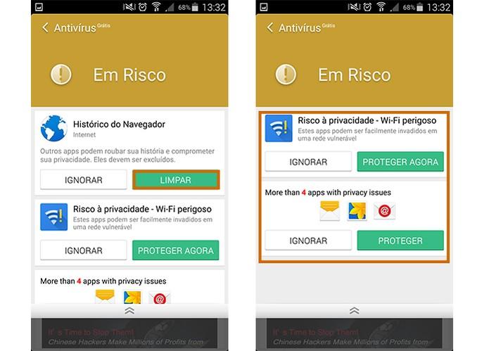 Os problemas de segurança do Android serão mostrados em cards (Foto: Reprodução/Barbara Mannara)