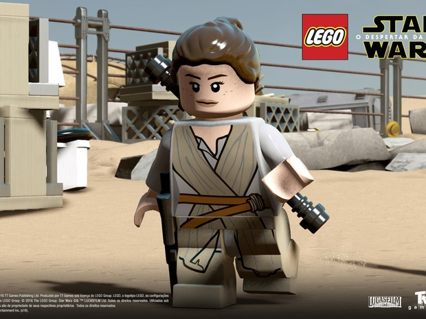 Heroína Rey também irá aparecer em 'Lego Star Wars: O despertar da força' (Foto: Divulgação/Warner Bros. Games)