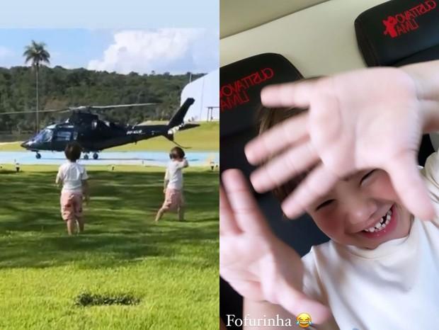 Filhos de Andressa Suita e Gusttavo Lima (Foto: Reprodução/Instagram)