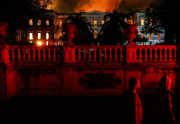 Incêndio Museu Nacional no Rio de Janeiro (Foto: Tânia Rêgo/Agência Brasil)