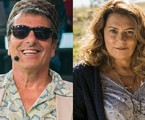Evandro Mesquita e Patricya Travassos | Raquel Cunha e João Miguel Júnior/TV Globo