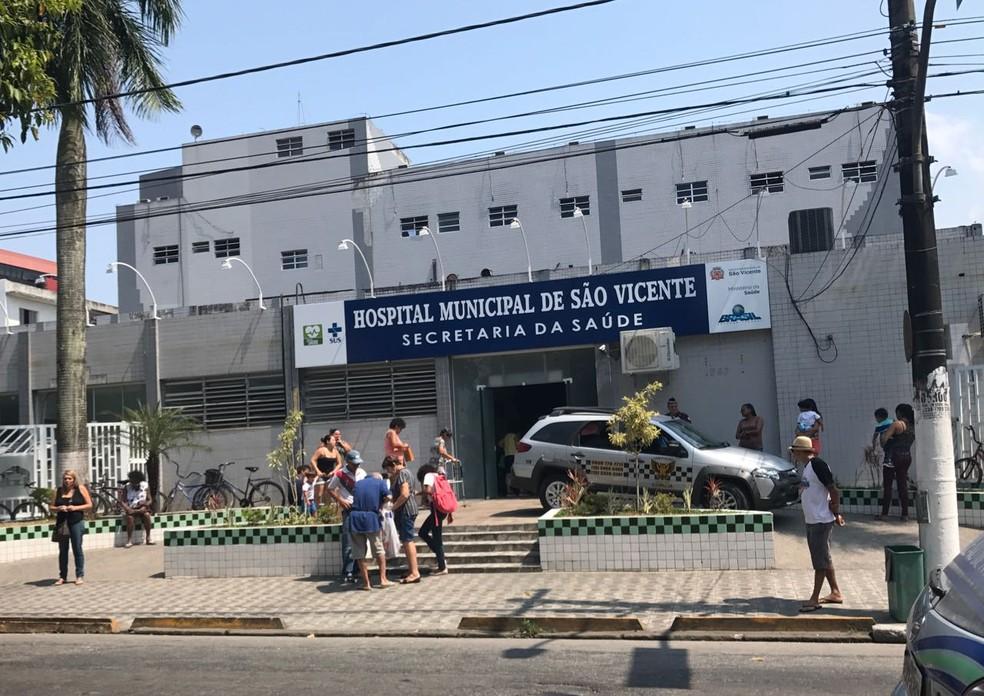 Hospital Municipal de São Vicente — Foto: José Claudio Pimentel / G1