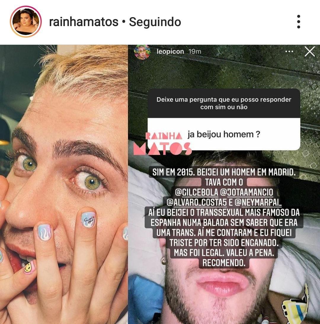 Leo Picon responde fãs (Foto: Reprodução/Instagram)