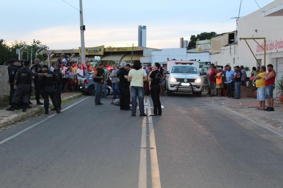 Policial Militar da reserva foi morto no final da tarde desta sexta-feira (23) em Mossoró (Foto: Marcelino Neto/O Câmera)
