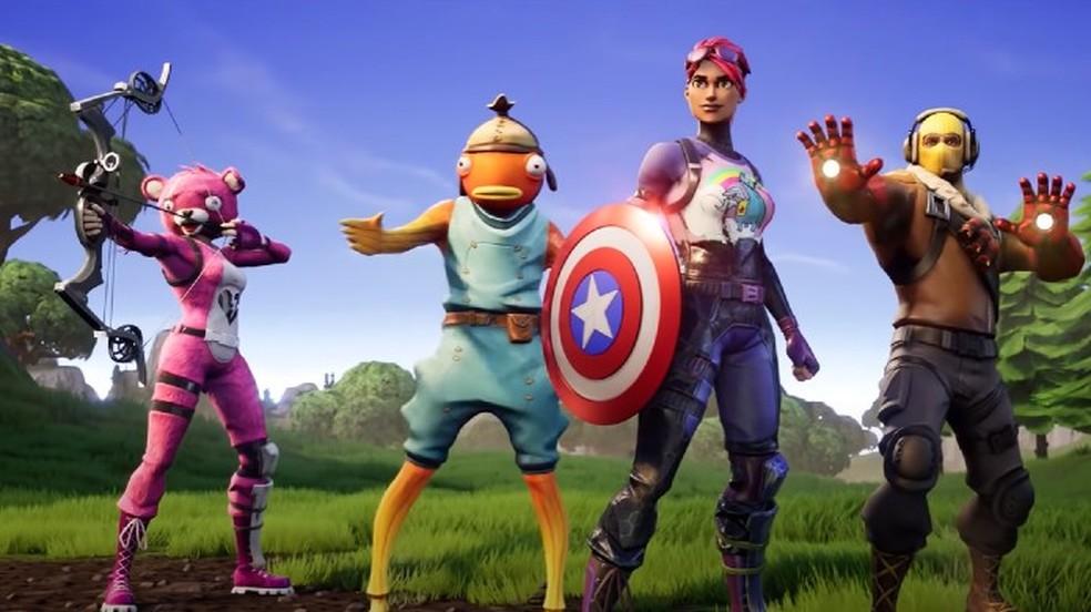 Em 2019, Fortnite cresceu ainda mais na cultura pop ao colaborar com marcas como Marvel e DC — Foto: Divulgação/Epic Games